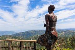 Zulu statuy Tysiąc wzgórzy krajobraz obrazy stock
