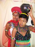 Zulu Teen and Zulu Makoti Royalty Free Stock Image