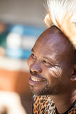 Zulu tribesman portrait Royalty Free Stock Image