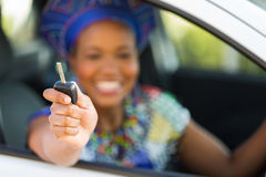 Zulu woman car Stock Images