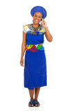 Zulu woman mobile Royalty Free Stock Photography