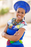 Zulu woman portrait Royalty Free Stock Images