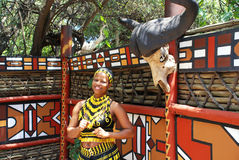Zulu woman,South Africa Royalty Free Stock Photography
