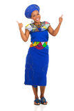 Zulu woman thumbs up Stock Images