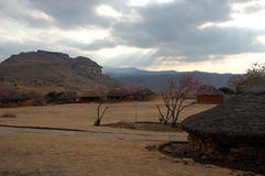 Zulus' village. In South Africa Royalty Free Stock Photography