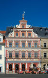 Zum Breiten stada dom, Fischmarkt, Erfurt, Niemcy Zdjęcie Stock