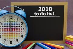 2018, zum der Liste zu tun Stockbilder