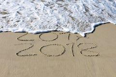 Zum neuen Jahr überschreiten, 2017 bis 2018 Stockbilder