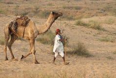 Zum Pushkar Kamel angemessen Lizenzfreies Stockfoto