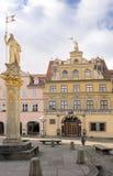 Zum Roten Ochsen, quadrato del mercato di pesci, Erfurt di Haus Fotografie Stock Libere da Diritti