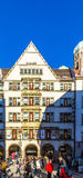 Zum Schoenen Turm i Munich Arkivfoton
