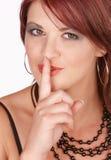 Zum Schweigen bringen von Redhead Stockbild
