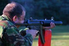 Zum Schweigen gebrachtes Maschinengewehr Lizenzfreie Stockfotos