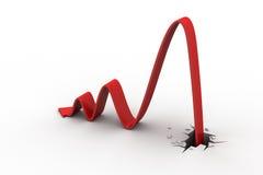 Zum Verlust als Finanzdiagramm durch brechen stock abbildung