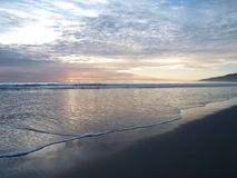 Zuma Beach. Soft evening light at famous Zuma beach in Malibu California Stock Image