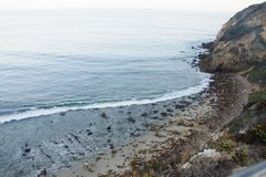 Zuma Beach view from Duma Point, Malibu. California Stock Images
