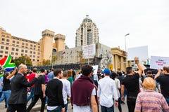 Zuma debe caerse marcha Fotos de archivo libres de regalías