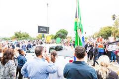 Zuma debe caerse marcha Fotografía de archivo libre de regalías