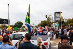 Zuma debe caerse marcha Imagen de archivo