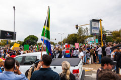 Zuma moet vallen maart Stock Afbeelding