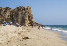 Zuma strand, på 13th Augusti, 2017 - Zuma strand, Los Angeles, LA, Kalifornien, CA Royaltyfri Fotografi