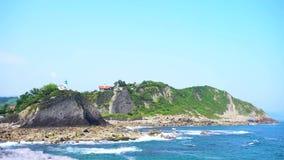 Zumaia ακτή, Χώρα των Βάσκων Ισπανία απόθεμα βίντεο