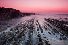 Zumaia παραλία Στοκ Φωτογραφίες