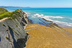 Zumaia Beach, Gipuzkoa, Basque Country. SPAIN. Royalty Free Stock Photography