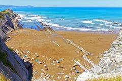 Zumaia Beach, Gipuzkoa, Basque Country. SPAIN. Royalty Free Stock Photos
