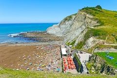Zumaia Beach, Gipuzkoa, Basque Country. SPAIN. Stock Photography