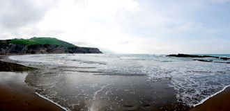 Zumaia Beach Panorama Stock Images