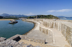Zumaia breakwater Royalty Free Stock Images