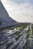 Zumaia flysch. Zumaia geology special coast, the Flysch, in Spain stock photos