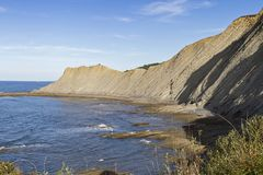 Zumaia flysch. Zumaia geology special coast, the Flysch, in Spain stock images