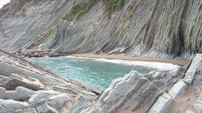 Zumaia plaża, Spain Obrazy Royalty Free