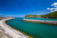 Zumaia. Town  Harbour  Basque Country  Spain Royalty Free Stock Image