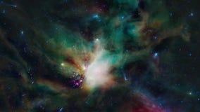 Zumando in una nebulosa Immagini Stock