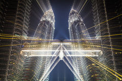 Zumata delle torri gemelle di Petronas Immagine Stock