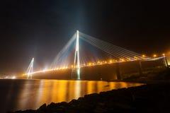 Zumata di stupore fuori vista aerea del ponte di Russky fotografia stock