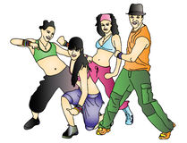 zumba royaltyfri illustrationer