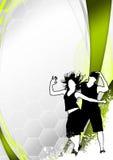 Предпосылка танцульки пригодности Zumba Стоковое Изображение RF