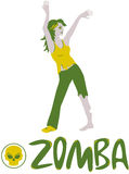 Zumba. The best exercises for the dead - Zomba! Favorite exercises zumba for the dead. Zomba perfectly shapes the body. Funny vector illustration. Illustration Stock Photography