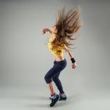 Zumba da dança da mulher imagem de stock royalty free