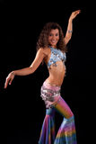 Zumba dance teacher in costume Royalty Free Stock Images