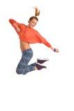 Zumba dancer jumping Royalty Free Stock Image