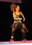 Zumba dancer Royalty Free Stock Photos