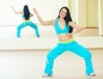 Zumba dancing exercises Royalty Free Stock Photos