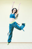 Zumba dancing exercises Stock Image