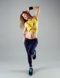 Zumba del baile de la mujer Imagen de archivo libre de regalías