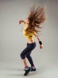 Zumba di dancing della donna Fotografia Stock